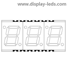 0,28 Zoll dreistelliges 7-Segment-SMD-Display