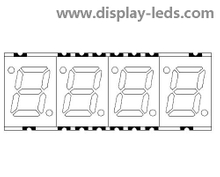 0,28 Zoll vierstelliges 7-Segment-SMD-Display