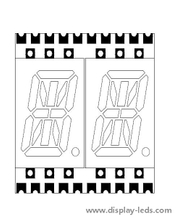 0,4 Zoll zweistelliges 14-Segment-SMD-Display